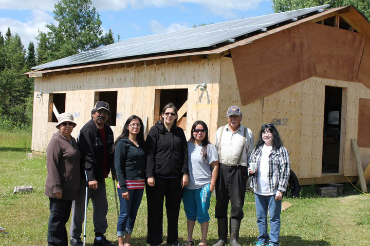 Left to Right: Ida James, Albert James, Councillor Lois James, Chief Vontaine Keno, Councillor Cheryl Lawson, Eli James, Margaret Lawson.